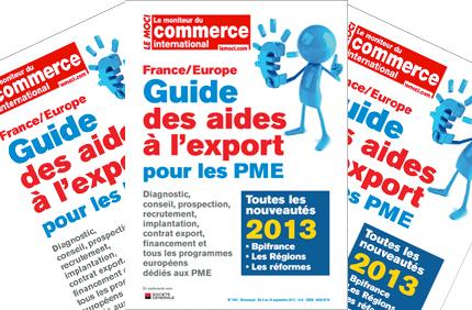 Guide des aides à l'export 2013 : pour gagner du temps à l'international (MOCI)