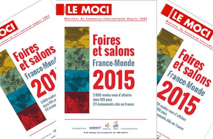 Foires et salons France-Monde 2015 : 3 800 occasions d'exporter ! (Moci)