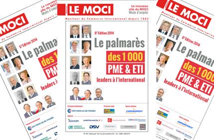 """La 6e édition du """"Palmarès des 1 000 PME & ETI leaders à l'international"""" est parue (Moci)"""