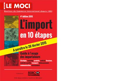Le guide « L'Import en 10 étapes » 2015 disponible le 26 février