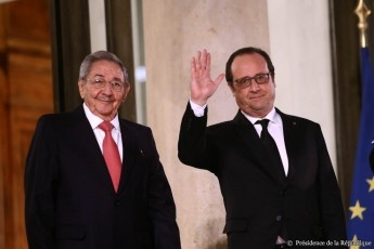 Credit Presidence de la Republique - Raul Castro - F. Hollande