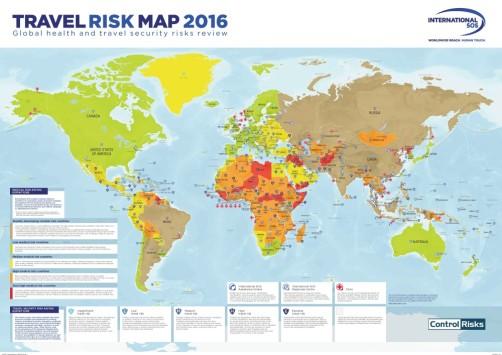 Risques / Voyages : International SOS et Control Risks publient la première cartographie des risques santé et sécurité
