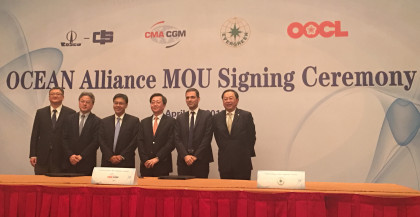 Signature of Ocean Alliance - Shanghai 20 april 2016 - copyright CMA CGM