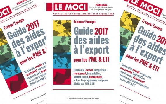 Nouvelle parution Moci : Guide 2017 des aides à l'export pour les PME & ETI