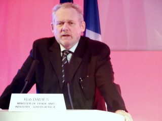 Rob Davies, ministre sud-africain du Commerce et de l'industrie
