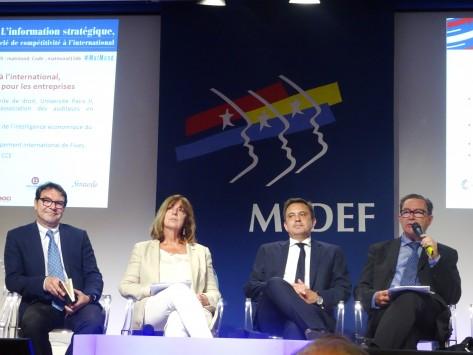 table ronde Medef l'information stratégique