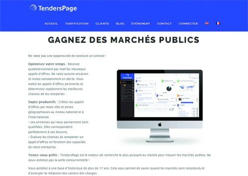 TendersPage : une veille sur les appels d'offres dans 145 langues