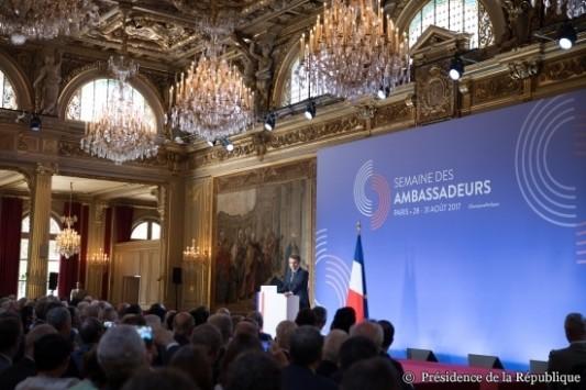 International / Diplomatie économique : ce qu'il faut retenir du discours d'E. Macron aux ambassadeurs