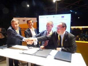 Signature d'un accord Bpfrance et FEI, le 12 octobre 2017