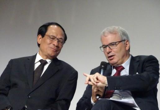 Le Luong Minh, secrétaire général de l'Asean, et Frédéric Sanchez, président de Medef International