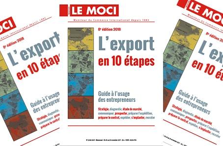 Nouvelle parution : L'export en 10 étapes – 8e édition, 2018 (Le Moci)
