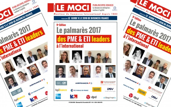 Le palmarès 2017 des PME & ETI leaders à l'international – 9e Edition (Le Moci)