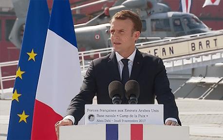 Emmanuel Macron aux EAU