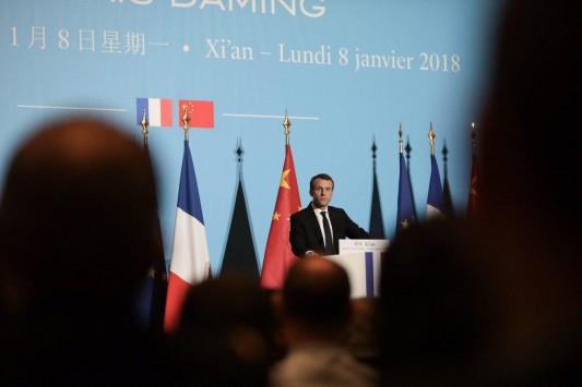 France / Chine : E. Macron en chef de file de l'Europe et des intérêts français