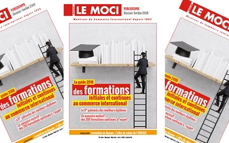 Nouvelle parution MOCI : Le guide 2018 des formations initiales et continues au commerce international