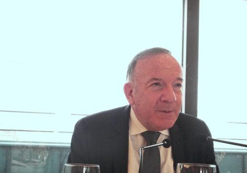 Pierre Gattaz, petit déjeuner de presse sur la Russie, le 25 mai 2018