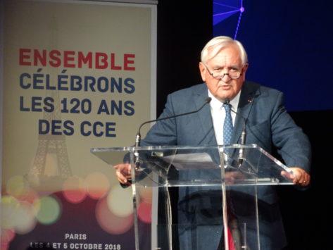 Mondial CCE 2018 : J-P. Raffarin défend l'Europe et veut plus d'Europe en Afrique