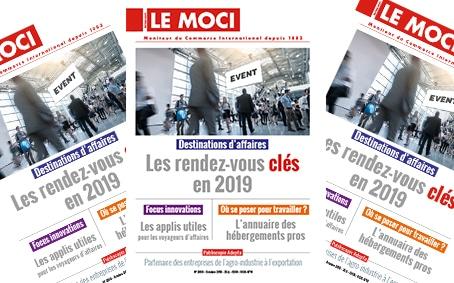 Destinations d'affaires – Les rendez-vous clés en 2019 (Le Moci)