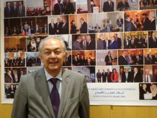 Vincent Reina, président de la CCFA, au siège de la Chambre de commerce franco-arabe, à Paris