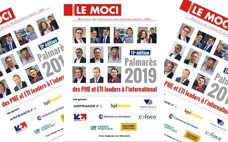 Palmarès 2019 des PME et ETI leaders à l'international – 11ème édition (Le Moci)