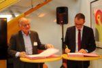 dans l'accompagnement, Bpifrance se renforce avec la signature du partenariat entre Etienne Hoepffner, Président d'Eci, et Pedro Novo,directeur exécutif de Bpifrance en charge de l'Export